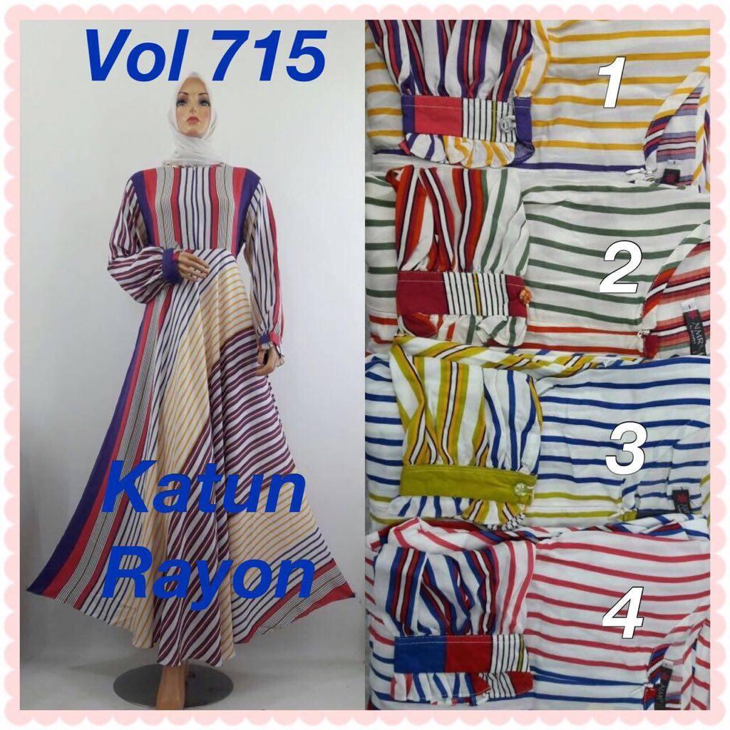 Gamis Katun Rayon 715