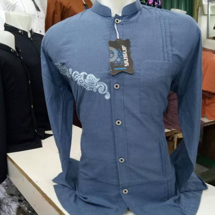 Anaya Baju Koko Panjang Biru