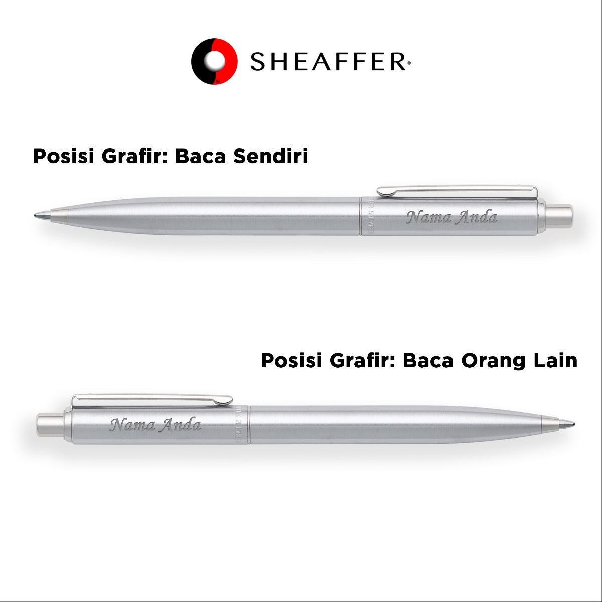 Sheaffer - Sentinel - Brushed Chrome - Ballpoint2