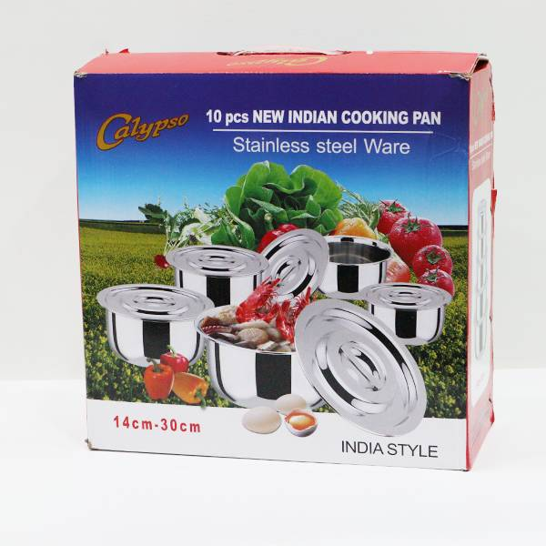 Panci India Ss Susun 5 Pcs/set (s-130)