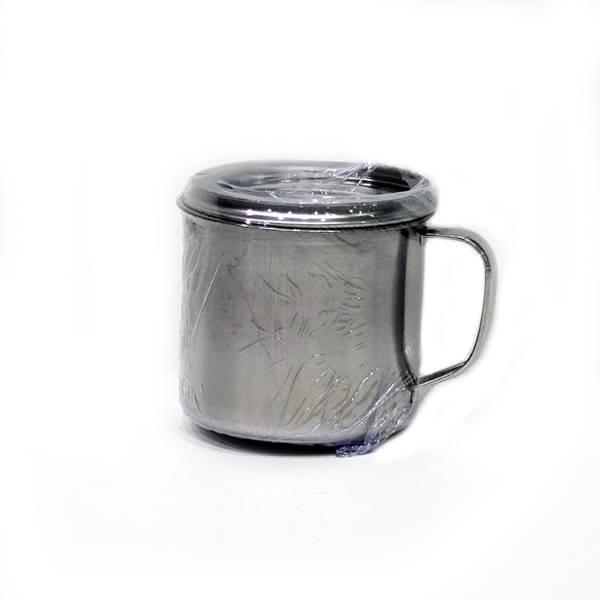 Mug  Stainless Steel  + Tutup (diameter 12 Cm) (y-045)