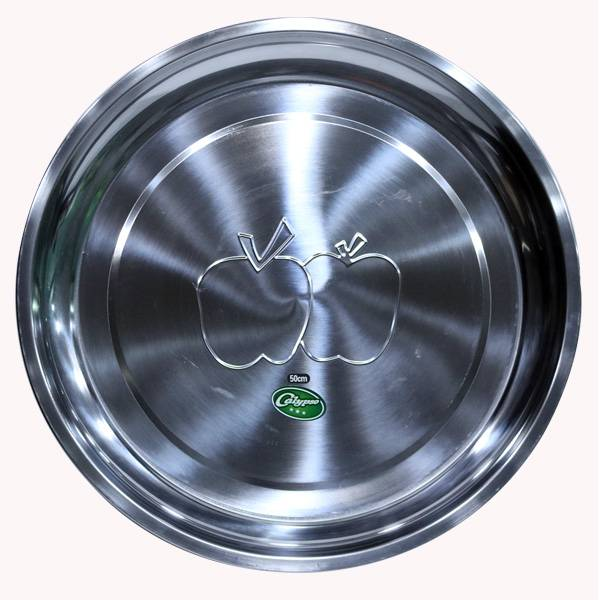 Nampan Bundar Stainless Steel (diameter 50 Cm)