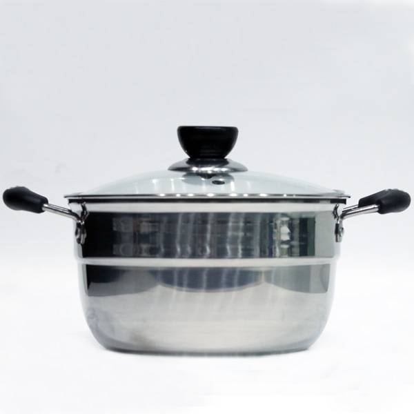 Panci Susu + Rebus Telur (dengan Pegangan Kanan Kiri)