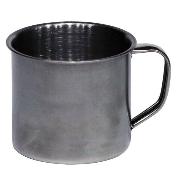 Mug Stainless Steel (diameter 7 Cm) (1 Lsn : 12 Pcs)
