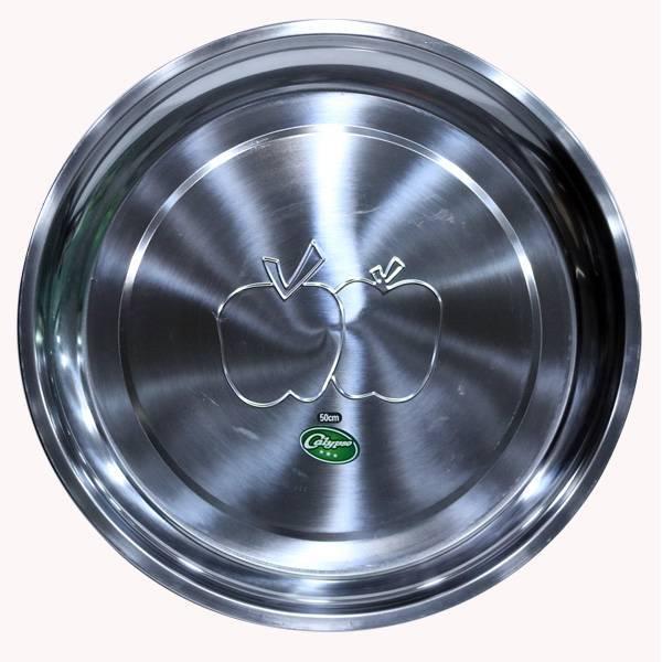 Nampan Bundar Stainless Steel (diameter 50 Cm) (1 Set : 3 Pcs)