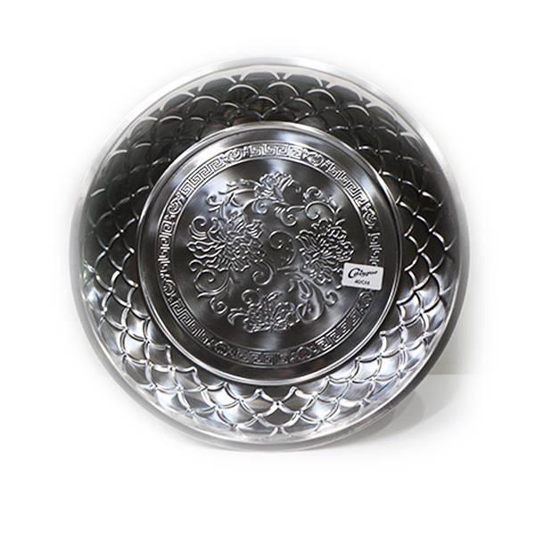 Nampan Bundar Stainless Steel (diameter 40 Cm) S-120 (1 Set : 3 Pcs)