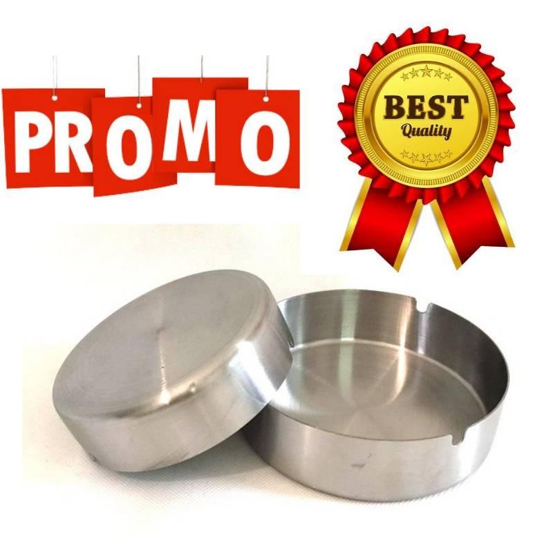 Asbak Stainless Steel (diameter 10 Cm) (s-201)0