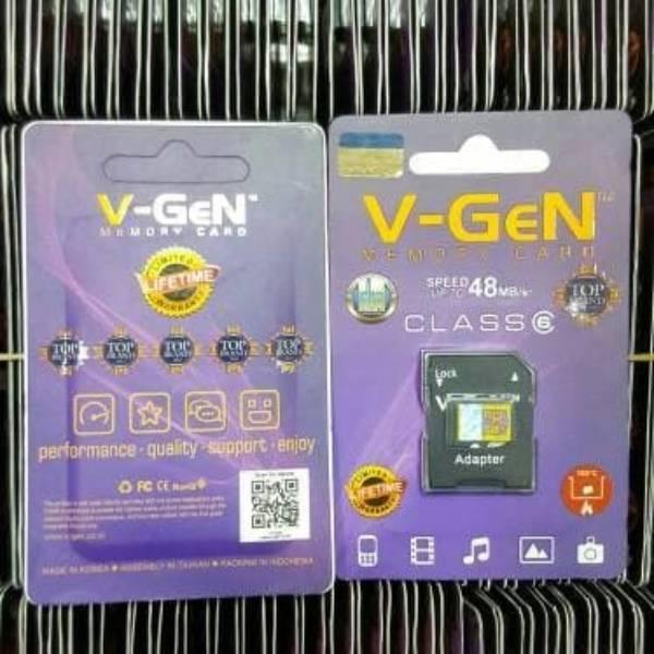 Microsd V-gen 8gb + Adapter Class 6 48mb/s (microsd Vgen) Memory Hp 8gb + Adapter Class 6 ...