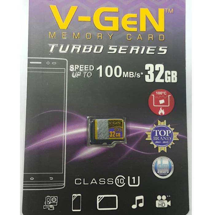 Microsd V-gen Turbo 32gb Class 10 100mb/s (microsd Vgen) Memory Hp