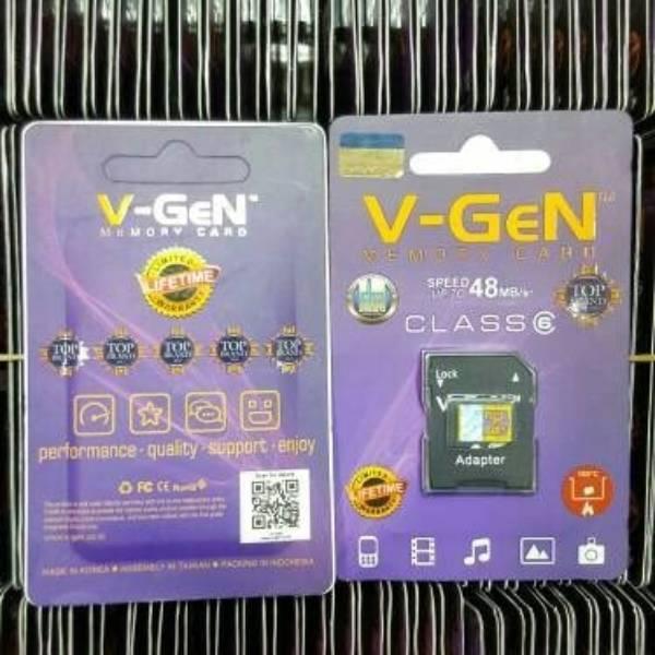 Microsd V-gen 16gb + Adapter Class 6 48mb/s (microsd Vgen) Memory Hp