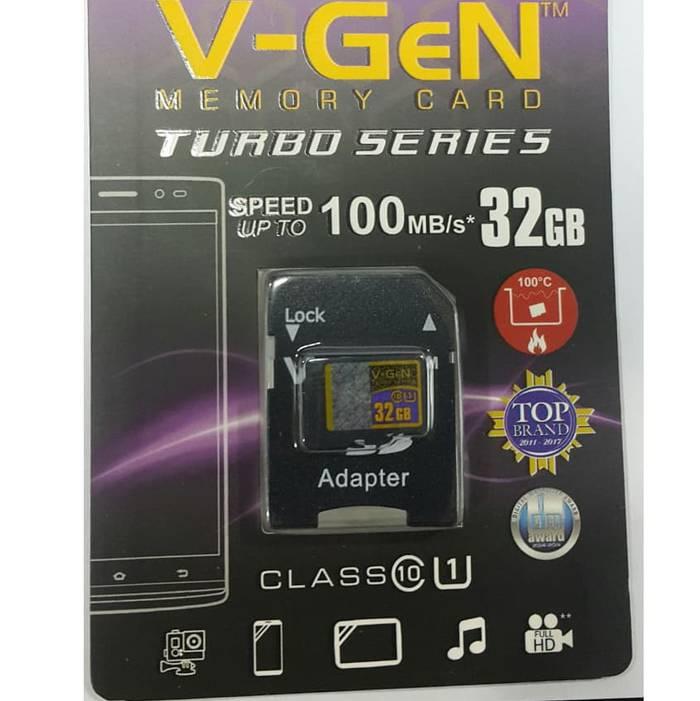 Microsd V-gen Turbo 32gb + Adapter Class 10 100mb/s (microsd Vgen)