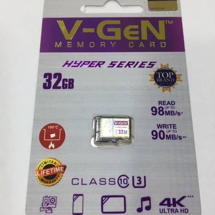 Microsd V-gen 32gb Hyper 98mb/s Memory Hp Microsd V-gen 32gb Hyper 98mb/s (microsd Vgen)