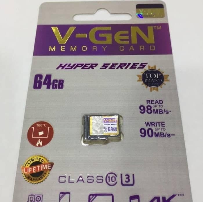 Microsd V-gen 64gb Hyper 98mb/s (microsd Vgen) Memory Hp