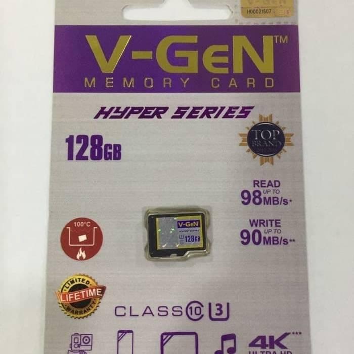 Microsd V-gen 128gb Hyper 98mb/s (microsd Vgen) Memory Hp