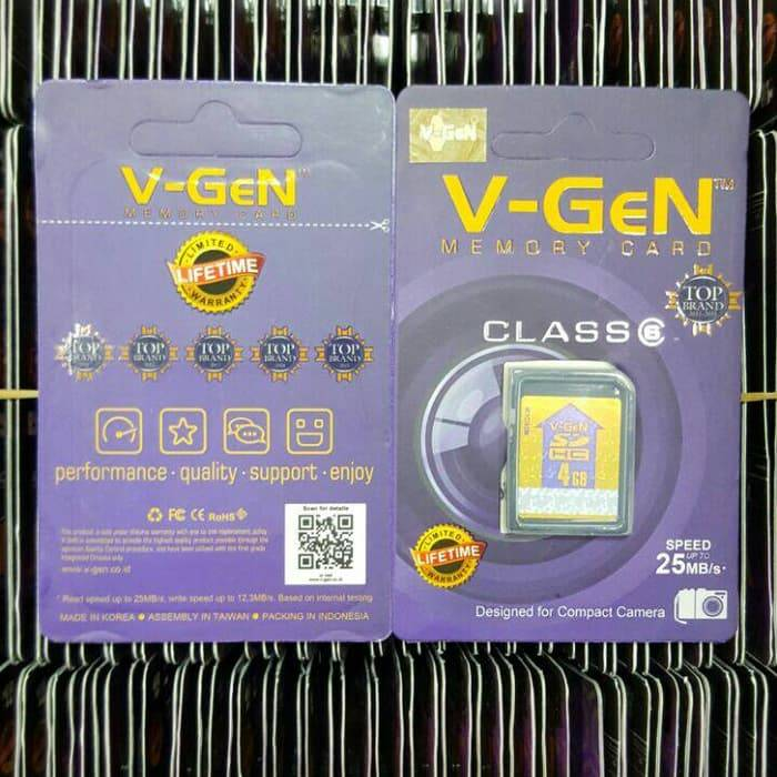 Sdhc V-gen 4gb Class 6 48mb/s (sdcard Vgen) Memory Kamera