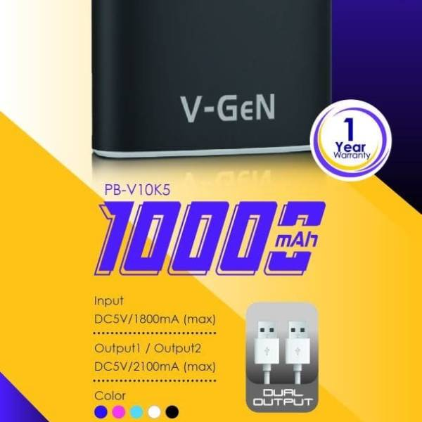 Powerbank V-gen Rescue V10k5 10000 Mah (power Bank Vgen)2