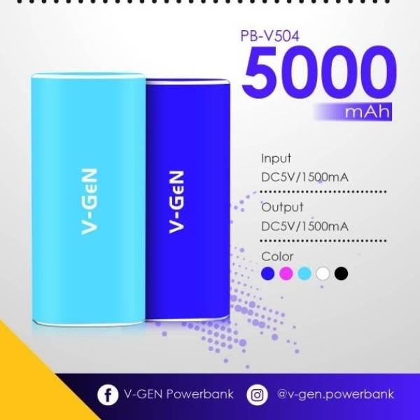 Powerbank V-gen Rescue V504 5000 Mah (power Bank Vgen)