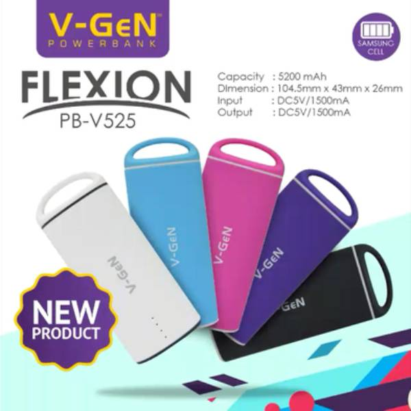 Powerbank V-gen V525 5200mah Flexion