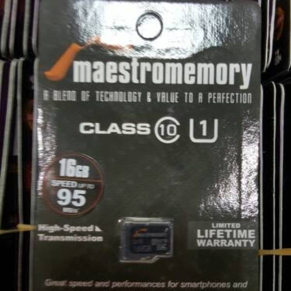 Microsd 16gb Maestro Class 10 (52mb/s) Memory Hp