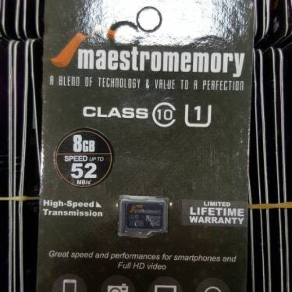 Microsd 8gb Maestro Class 10 (52mb/s) Memory Hp