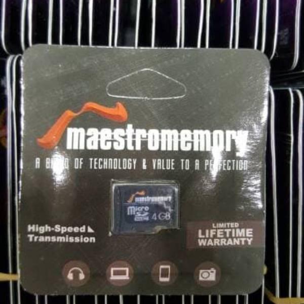 Microsd 4gb Maestro Class 6 (memory Hp)