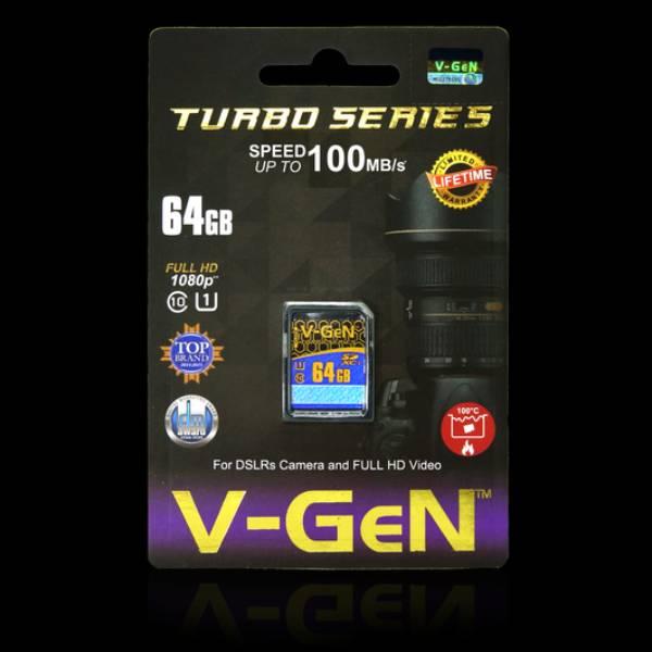Sdxc V-gen 64gb Class 10 Turbo 85mb/s (sdcard Vgen) Memory Kamera