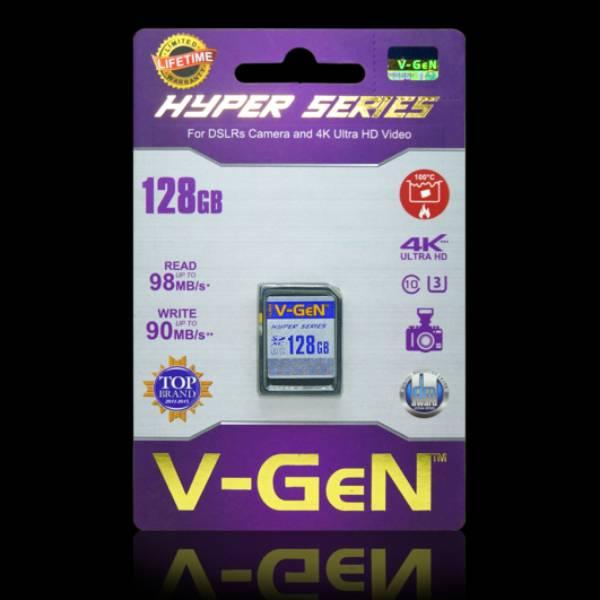 Sdxc V-gen 128gb Hyper 98mb/s (sdcard Vgen) Memory Kamera