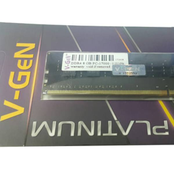 Ram Ddr4 V-gen 8gb Pc17000/2133mhz Long Dimm (memory Pc Vgen)
