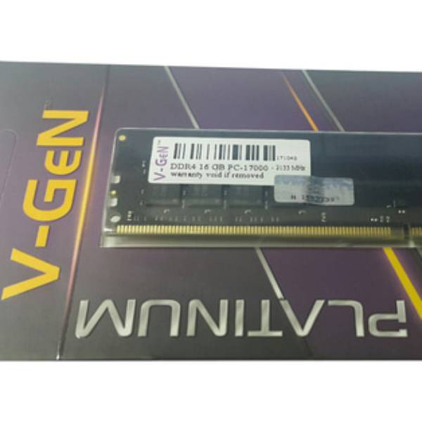 Ram Ddr4 V-gen 16gb Pc17000/2133mhz Long Dimm (memory Pc Vgen)