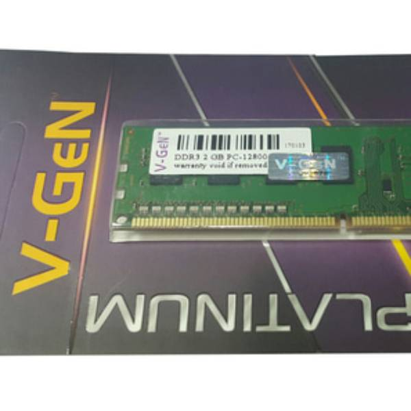 Ram Ddr3 V-gen 2gb Pc12800/1600mhz Long Dimm (memory Pc Vgen)