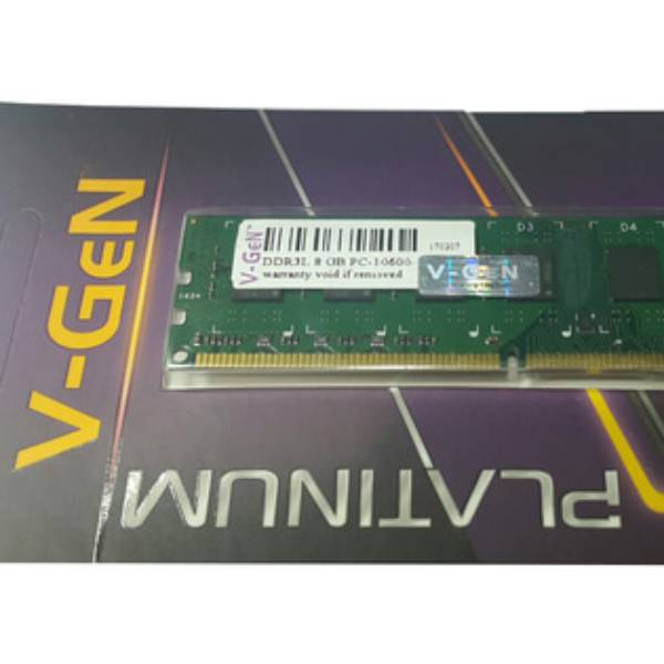 Ram Ddr3 V-gen 8gb Pc10600/1333mhz Long Dimm (memory Pc Vgen)
