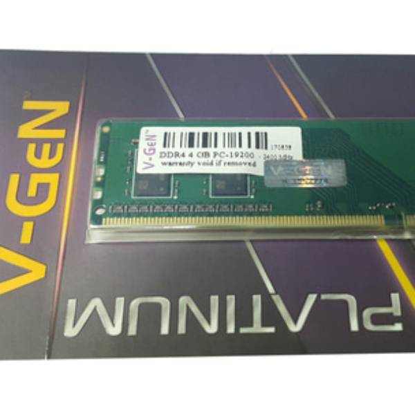 Ram Ddr4 V-gen 4gb Pc19200/2400mhz Long Dimm (memory Pc Vgen)0
