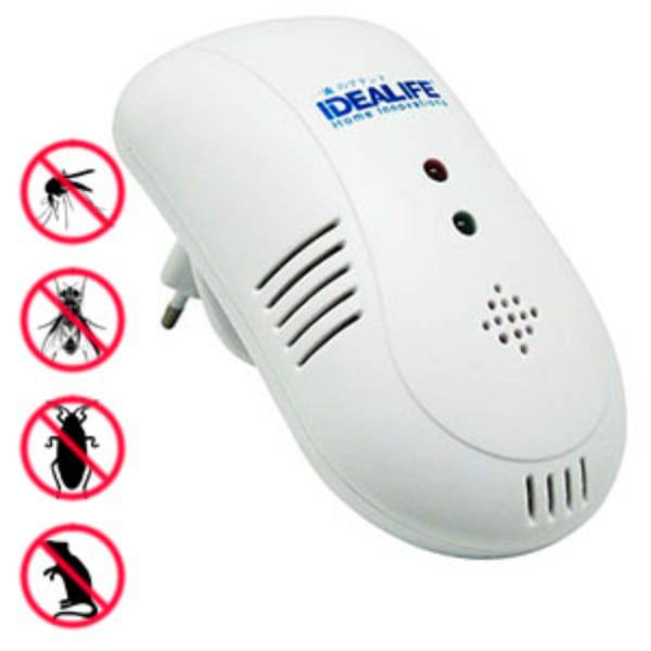 Idealife - Pest Control – 4in1 Frequency Technology, Plug & Use – Pengendali Hama (il–300)