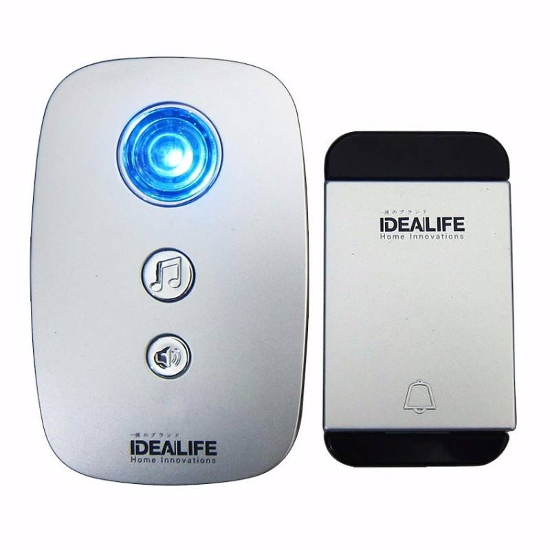 Idealife - Ac Wireless Doobell - Bel Pintu Listrik - (il-295) *tanpa Battere