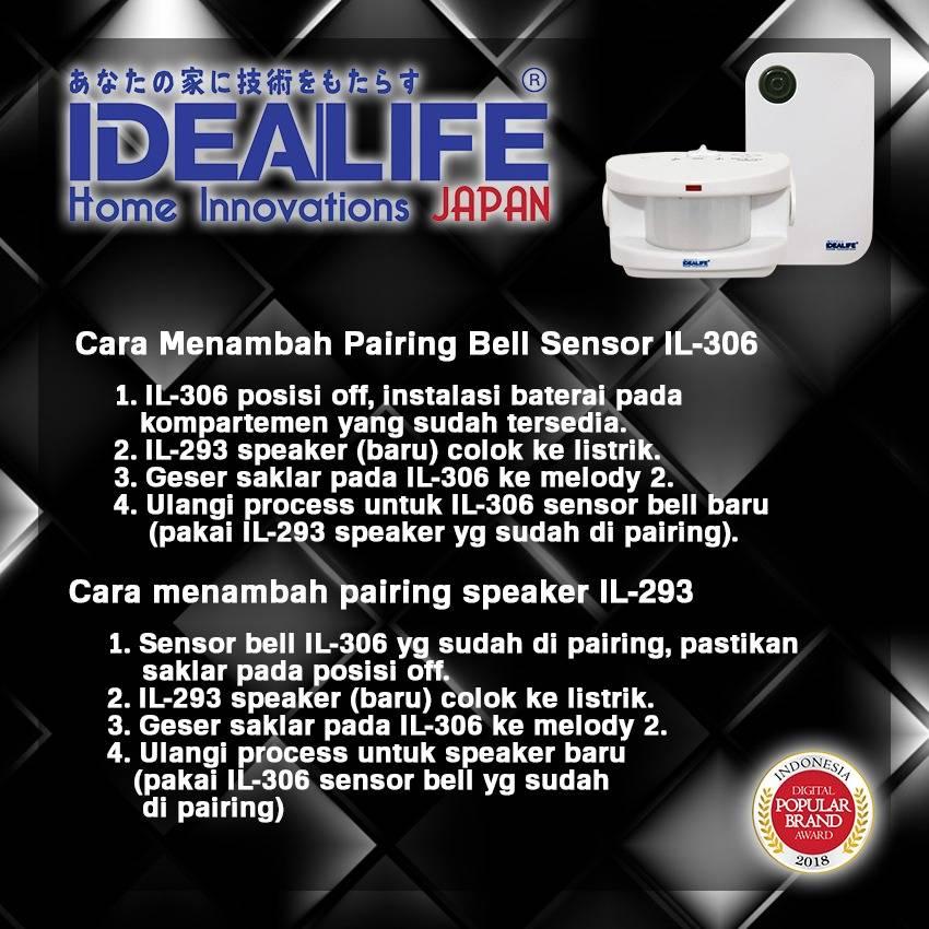 Idealife - Motion Sensor Doorbell - Bell Pintu Sensor Gerak - Il-3063