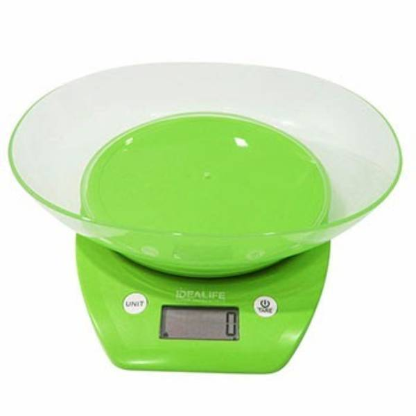 Idealife - Digital Kitchen Scale – Timer + Bowl, 5kg/1gr - Timbangan Kue Digital - Il–2102