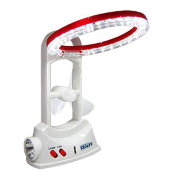 Idealife - Emergency Led Lamp + Fan - Lampu Darurat (24 Led) (il-283)