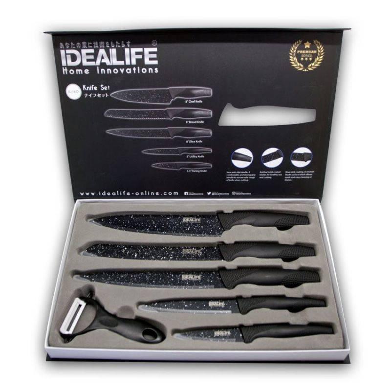 Idealife - Knife Set - Perlengkapan Pisau Dapur - Il-160