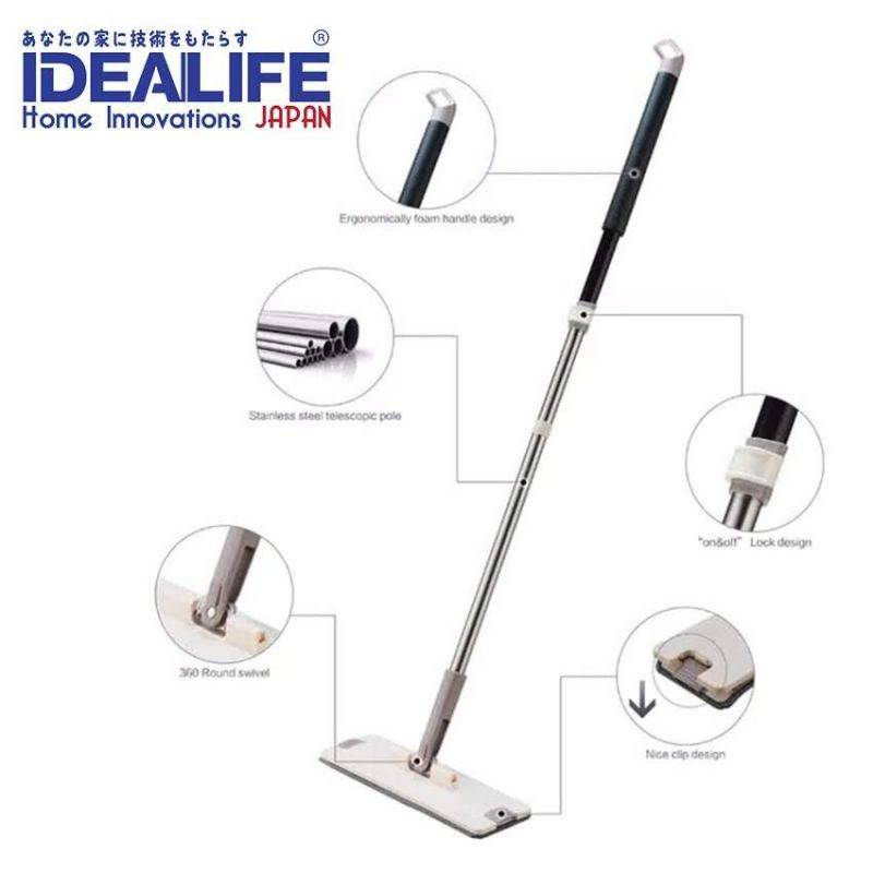 Idealife - Flat Mop - Alat Pel Lantai (il - 101)2