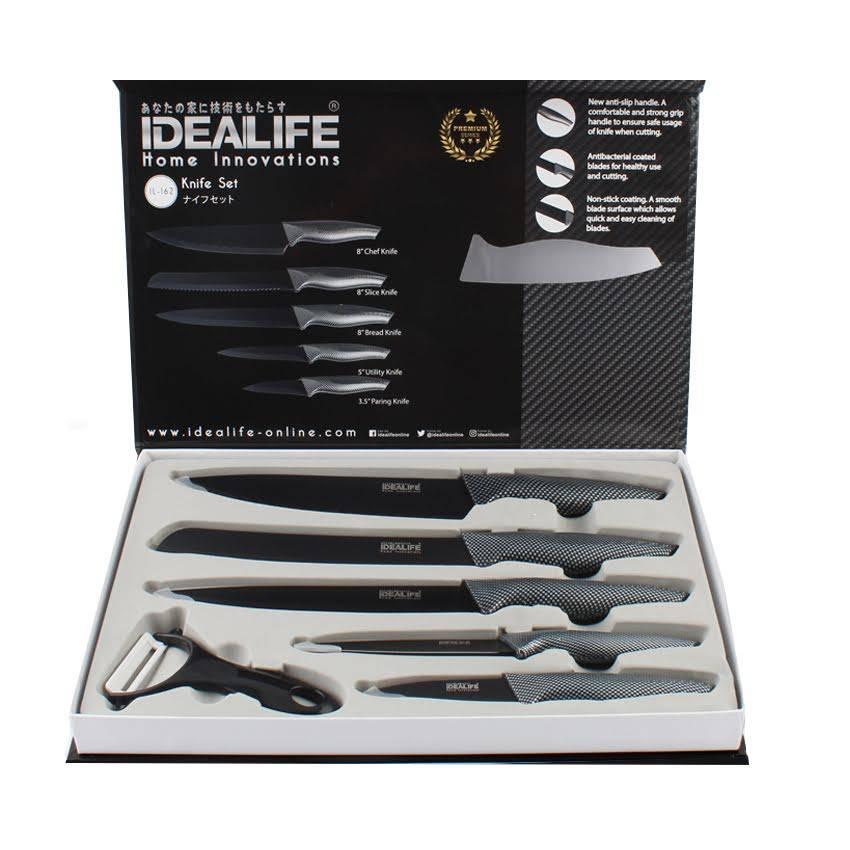 Idealife - Knife Set - Perlengkapan Pisau Dapur - Il-1622