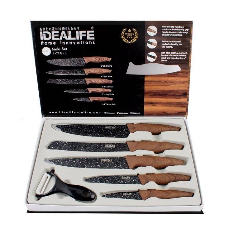 Idealife - Knife Set - Perlengkapan Pisau Dapur - Il-1611