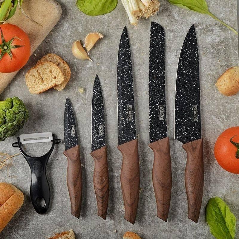 Idealife - Knife Set - Perlengkapan Pisau Dapur - Il-1612