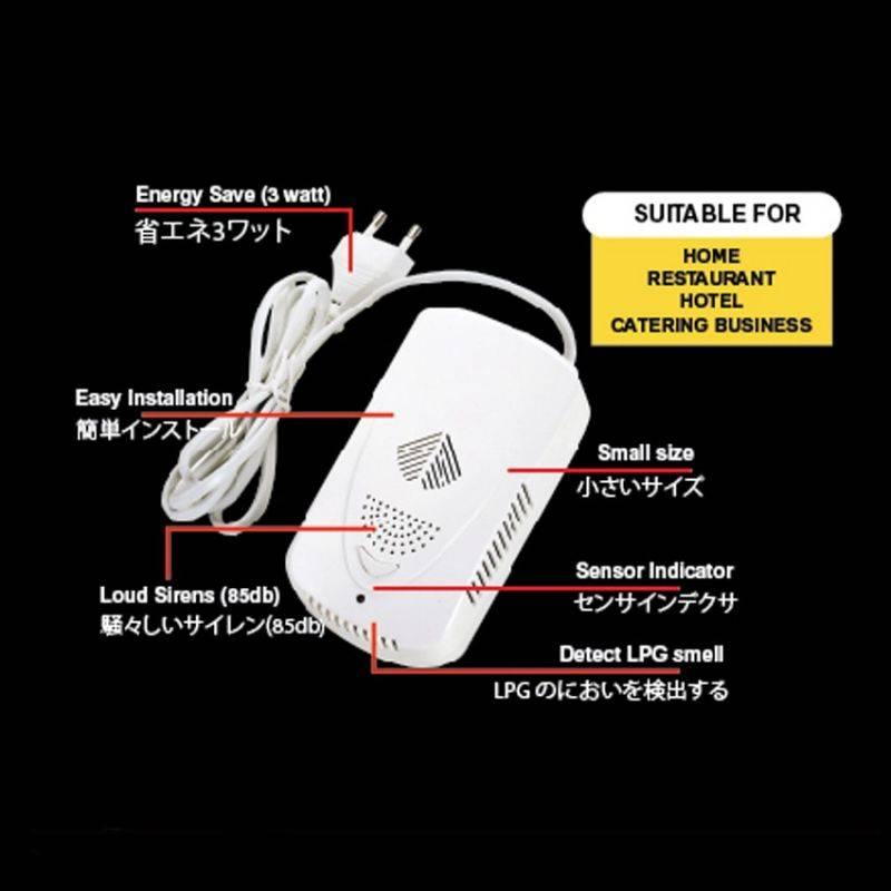 Idealife - Lpg Gas Leakage Alarm - Gas Alarm - Il - 3042