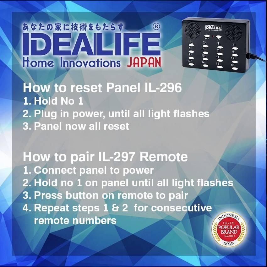 Idealife - Wireless Calling System - Bell Panggil Tanpa Kabel - Il-296 Speaker1