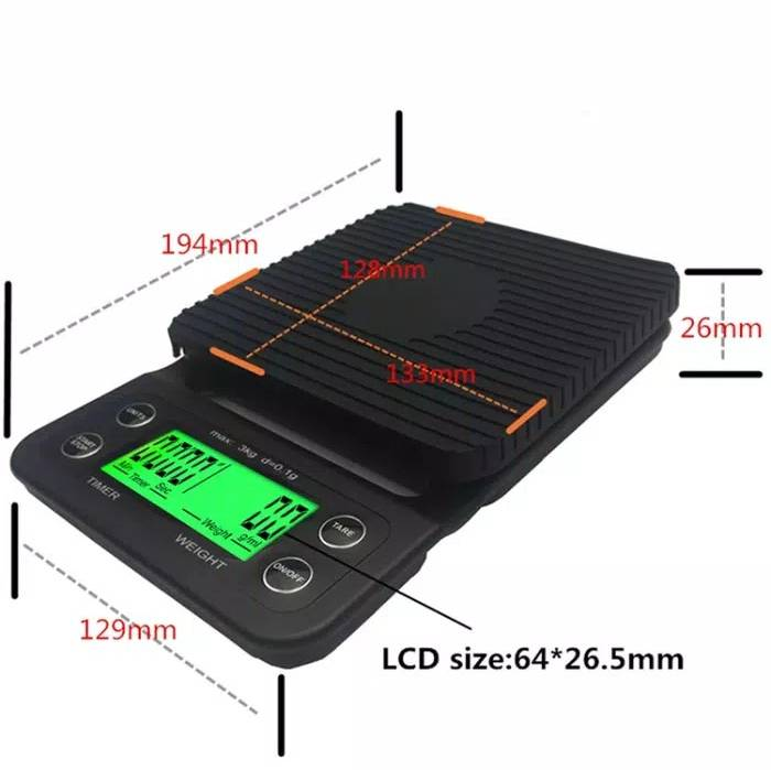 Idealife - Digital Coffee Scale – 3kg 0.1gr - Timbangan Kopi 3kg 0.1gr - Il–500c