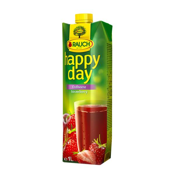 Happy Day-fruit Juice Strawberry 1 Ltr