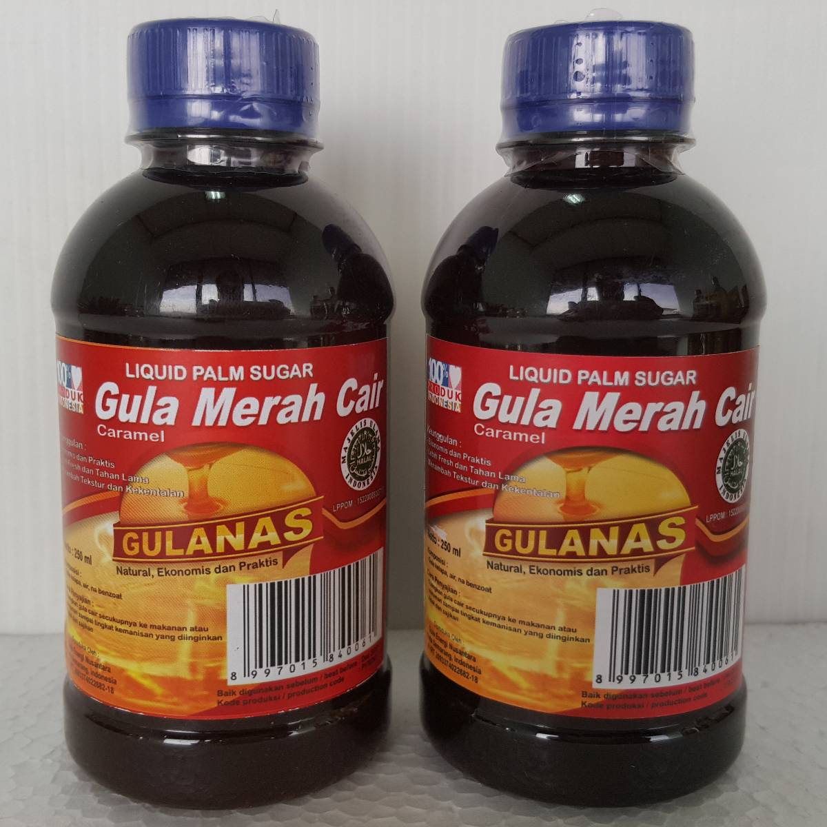 Gulanas Gula Cair Merah 250ml