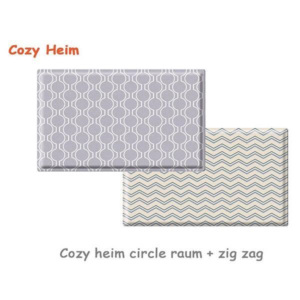 Parklon Cozy Heim Pvc Soft Mat Circle Raum Zigzag Size L [210 X 140 X 1.5]