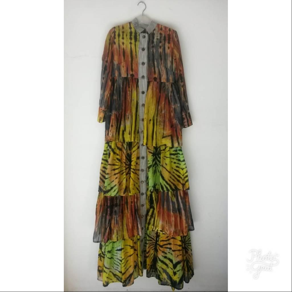 Ruffle Shibory Dress3