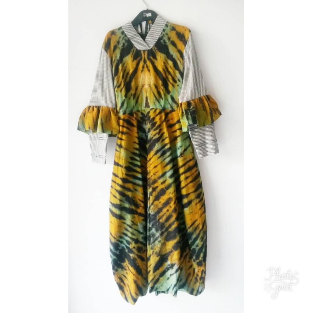 Shibory Bloomy Dress3